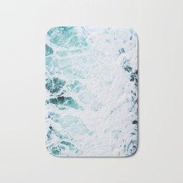 Water, Sea, Ocean, Wave, Blue, Nature, Modern art, Art, Minimal, Wall art Art Print Bath Mat