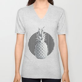 Black and White Anana | #society6 | Pineapple Unisex V-Neck