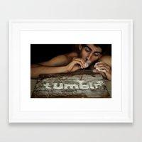 tumblr Framed Art Prints featuring Tumblr by JordannnnM