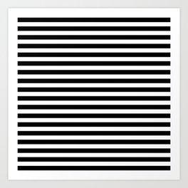Classic Horizontal Stripes in Black/White Art Print