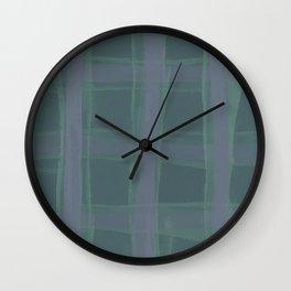 Sage & Tartan Wall Clock