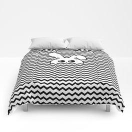 Curious bunny Comforters
