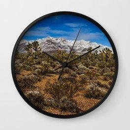 Desert Snow - 4936 Wall Clock