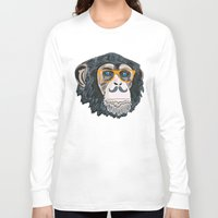 monkey island Long Sleeve T-shirts featuring Monkey! by  Steve Wade ( Swade)