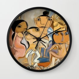 Les Demoiselles d'Avignon Wall Clock