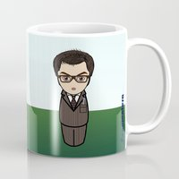dr who Mugs featuring Kokeshi Dr. Who by Pendientera