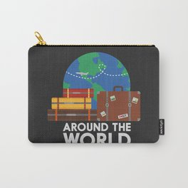 Around the world Carry-All Pouch