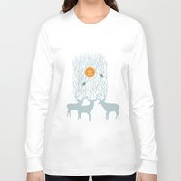 pixies Long Sleeve T-shirts featuring All Good Deer go to Heaven by Cocorrina