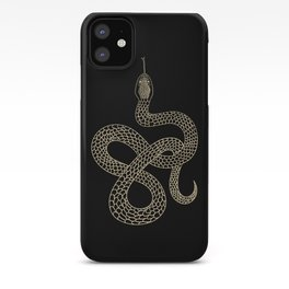 Vintage line snake iPhone Case