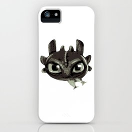 Chibi black dragon iPhone Case