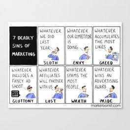 7 Deadly Sins of Marketing Canvas Print
