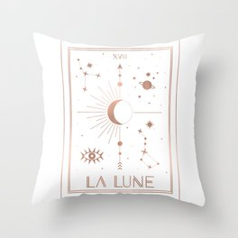 La Lune or The Moon White Edition Throw Pillow