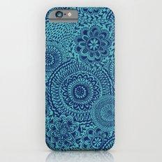 Tossed Blue mandalas Slim Case iPhone 6