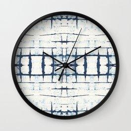 Faded Japanese Shibori Wall Clock