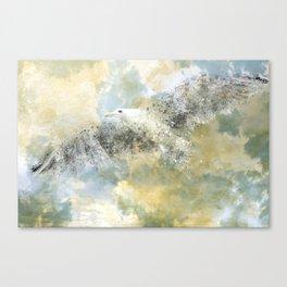 Vanishing Seagull Canvas Print