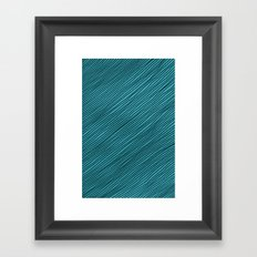 Stripes - turchese Framed Art Print