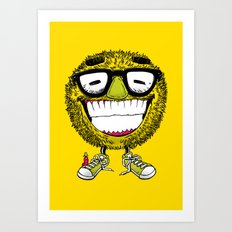 Mr Grin Art Print