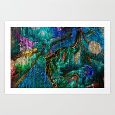 A  Zazzle Of an Abstract by Sherri Of Palm Springs Art Print