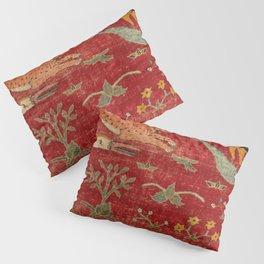 Animal Grotesques Mughal Carpet Fragment Digital Painting Pillow Sham