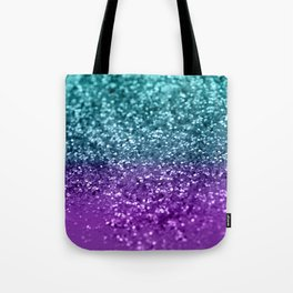 Purple Teal MERMAID Girls Glitter #1 #shiny #decor #art #society6 Tote Bag