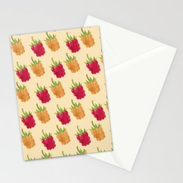 Red and Yellow Raspberries Stationery Cards