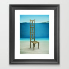 Waiting Place Framed Art Print