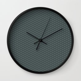 PPG Night Watch Pewter Green Double Scallop Wave Pattern Wall Clock