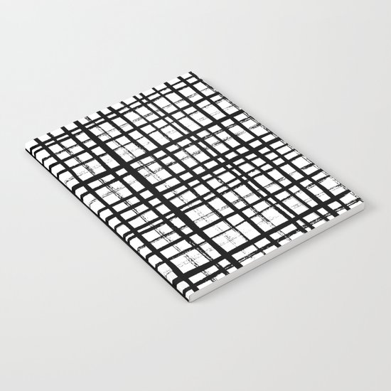 Essie - Grid, Black and White, BW, grid, square, paint, design, art Notebook