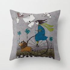 I Follow the Wind Throw Pillow