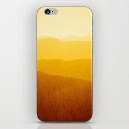 gradient landscape - sunshine edit iPhone Skin