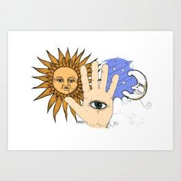 Psycic (color) Art Print