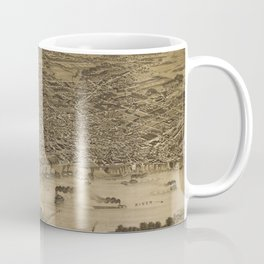 Vintage Pictorial Map of Memphis TN (1887) Coffee Mug