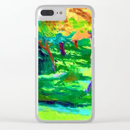 Jozef Mehoffer Strange Garden Clear iPhone Case