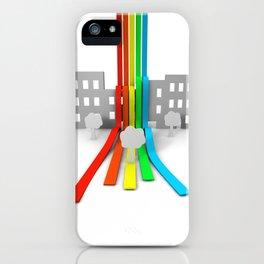 Spectrum in Town iPhone Case
