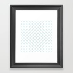 MOROCCAN {LIGHT BLUE} Framed Art Print