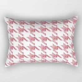 Rose gold houndtooth Rectangular Pillow