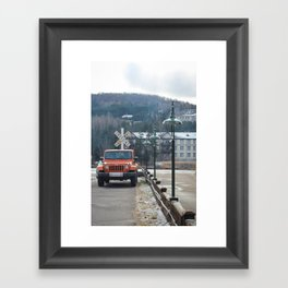 Waiting To Off Road  Framed Art Print