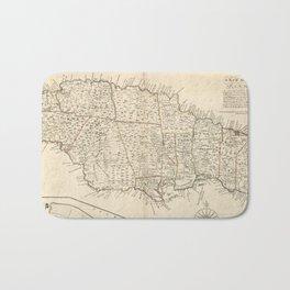 Vintage Map of Jamaica (1771) 2 Bath Mat