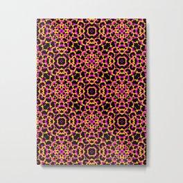 Pink and Yellow Tribal Animal Print Metal Print