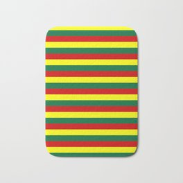 red green yellow stripes Bath Mat