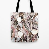colorful Tote Bags featuring Arnsdorf SS11 Crystal Pattern by RoAndCo