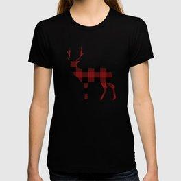 Christmas Plaid Deer T-shirt