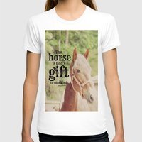 arab T-shirts featuring Horse Quote Arab proverb by KimberosePhotography