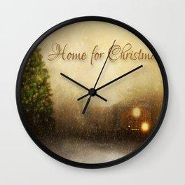 Christmas Train Wall Clock