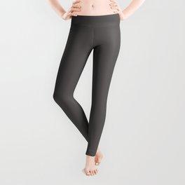 Solid Dark Carbon Gray Color Leggings