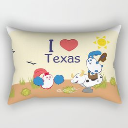 Ernest and Coraline | I love Texas Rectangular Pillow