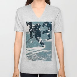 The Break- Away - Hockey Players Unisex V-Neck