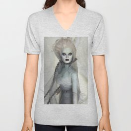 Alabaster Ghost Bride Unisex V-Neck