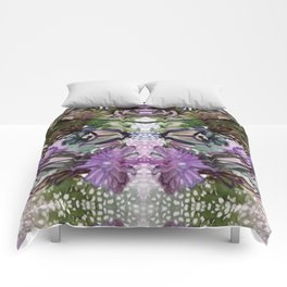 Psychedelic Positive Notes Lavender Zoom Comforters