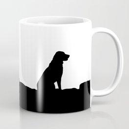 Dog Black And White Coffee Mug